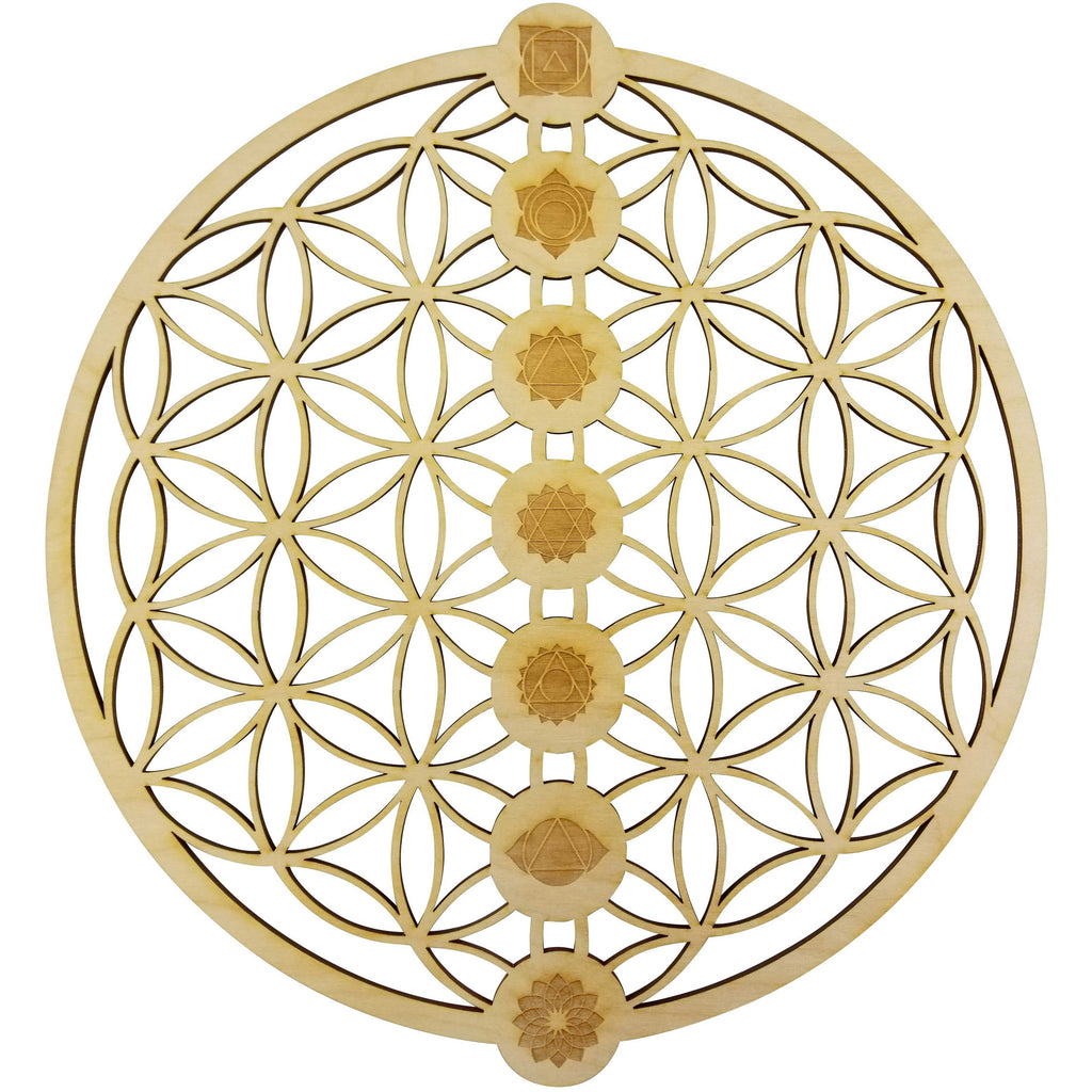 "12"" Flower of Life Chakras Wall Art 