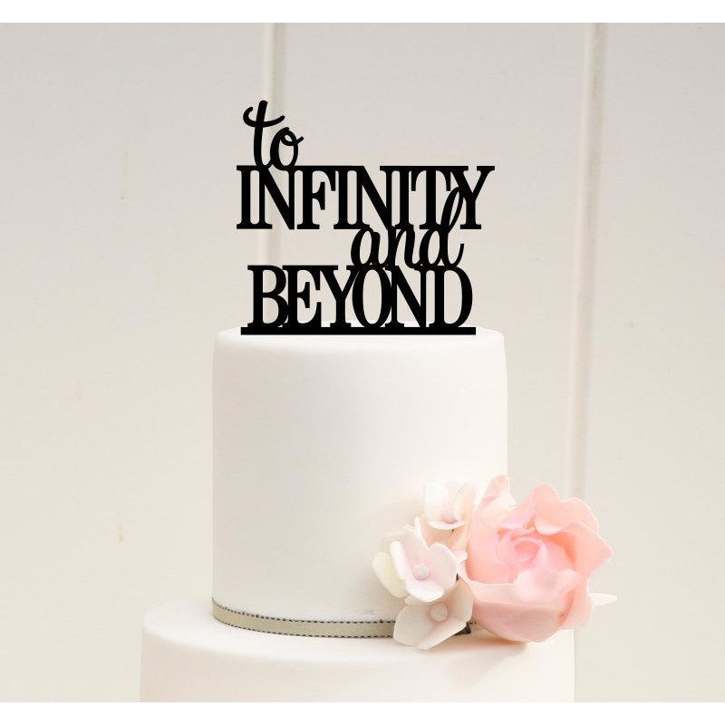 To Infinity and Beyond Wedding Cake Topper - Custom Cake Topper