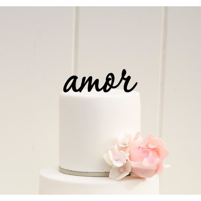 AMOR Wedding Cake Topper Custom Design