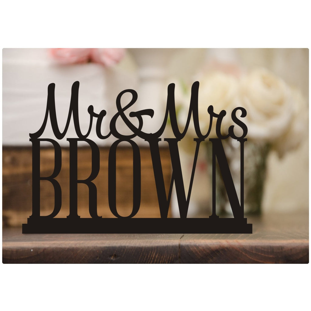 Stir Wedding Table Sign with Your Last Name - Wedding Cake Table Stir