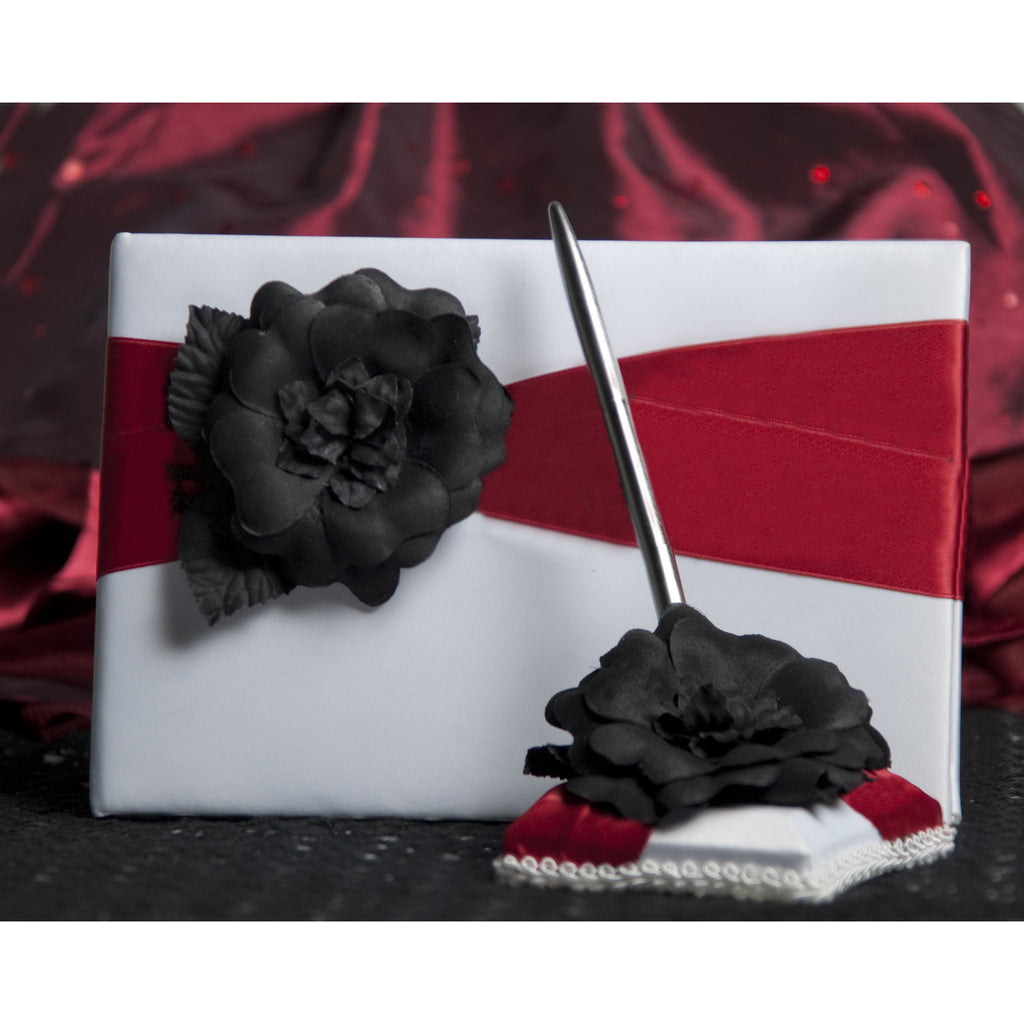 Gothic Romance Wedding Guestbook and Pen Set