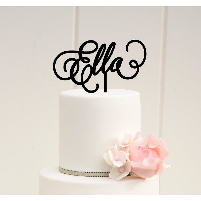 First Birthday Cake Topper - Name Cake Topper - Birthday Cake Topper