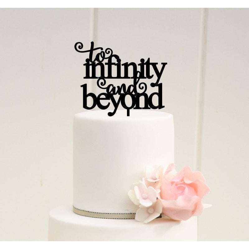 To Infinity and Beyond Wedding Cake Topper