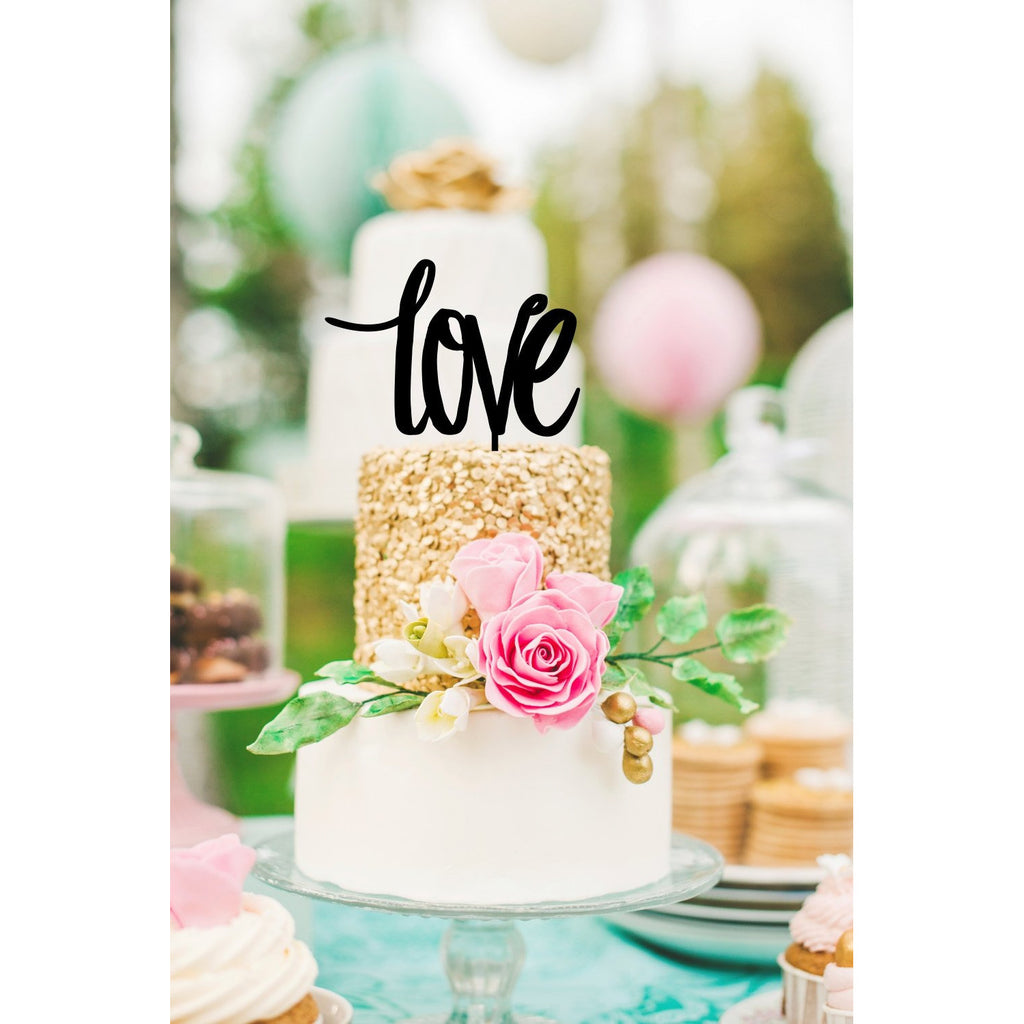LOVE Wedding Cake Topper Custom Design