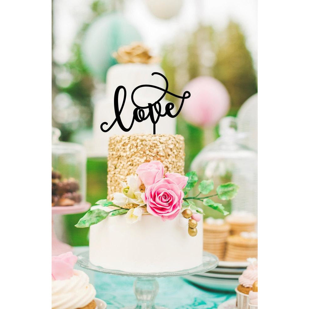 Love Wedding Cake Topper - Cake Topper