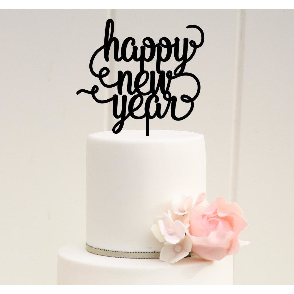 New Years Party Cake Topper - Happy New Year Cake Topper