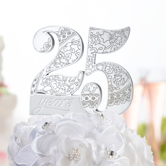 25Th Anniversary Cake Pick