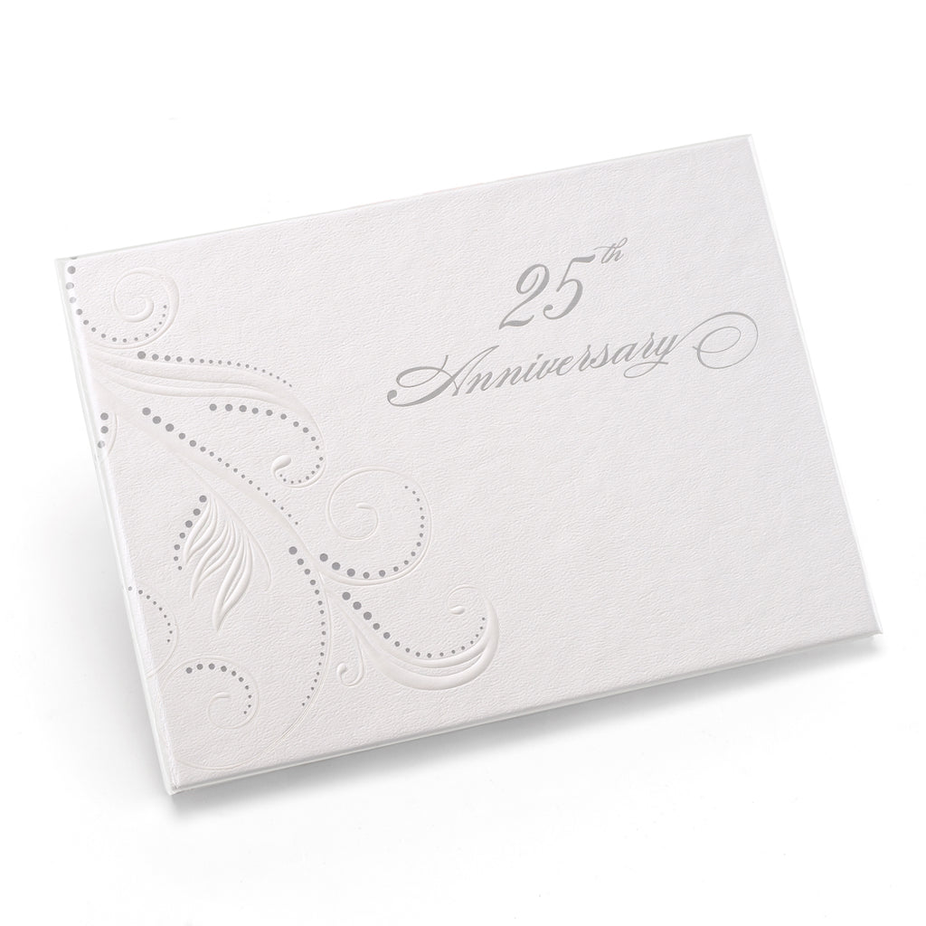 25th Anniv Swirl Dots Guest Book