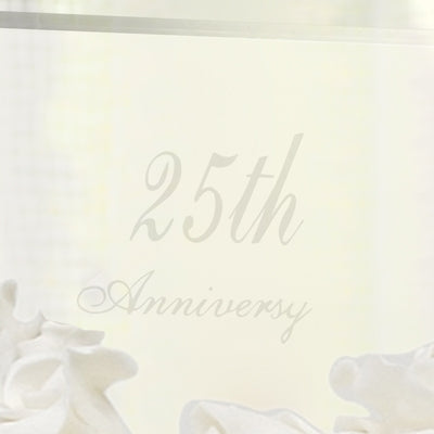 25th Wedding Anniversary Acrylic Cake Topper