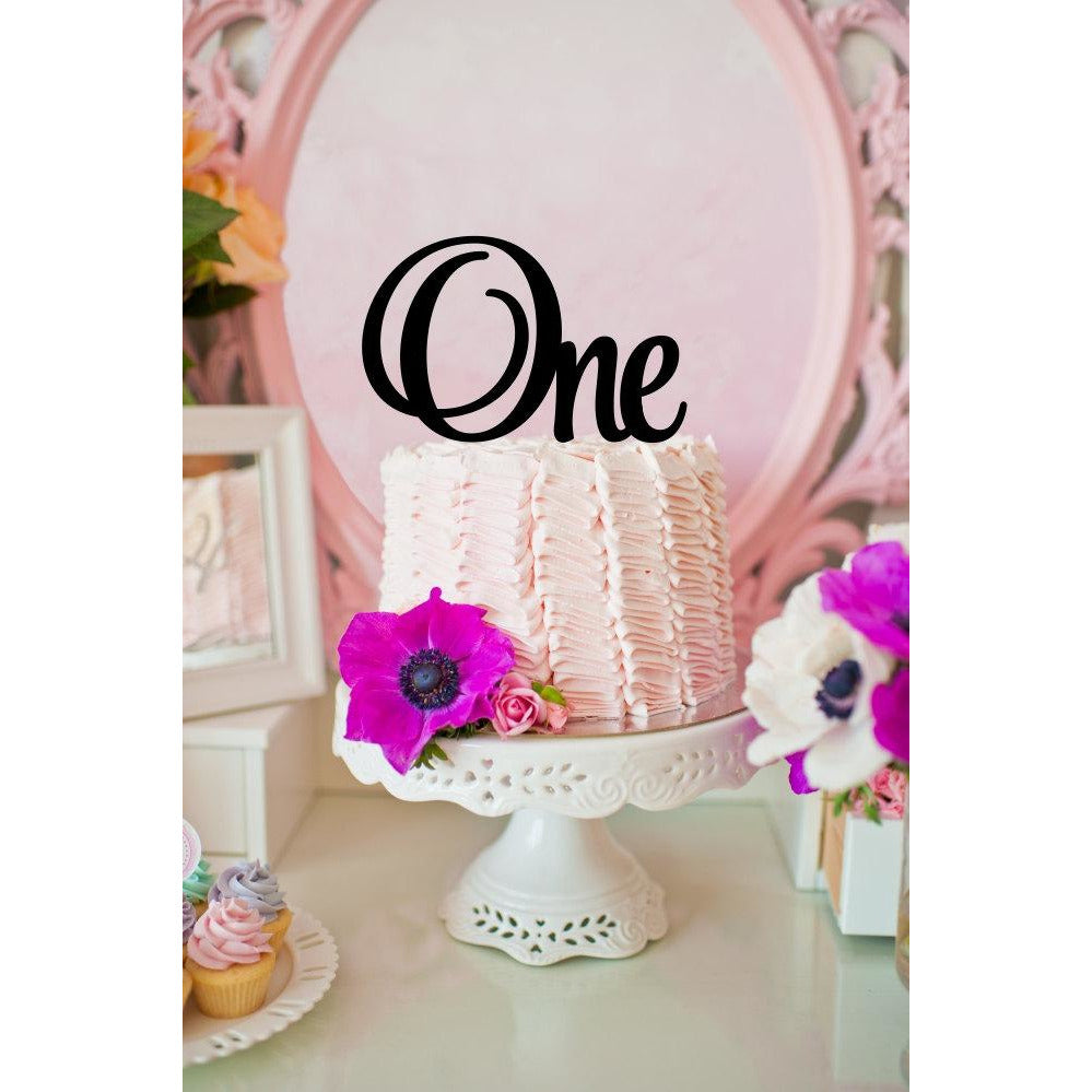 First Birthday Cake Topper - One Cake Topper