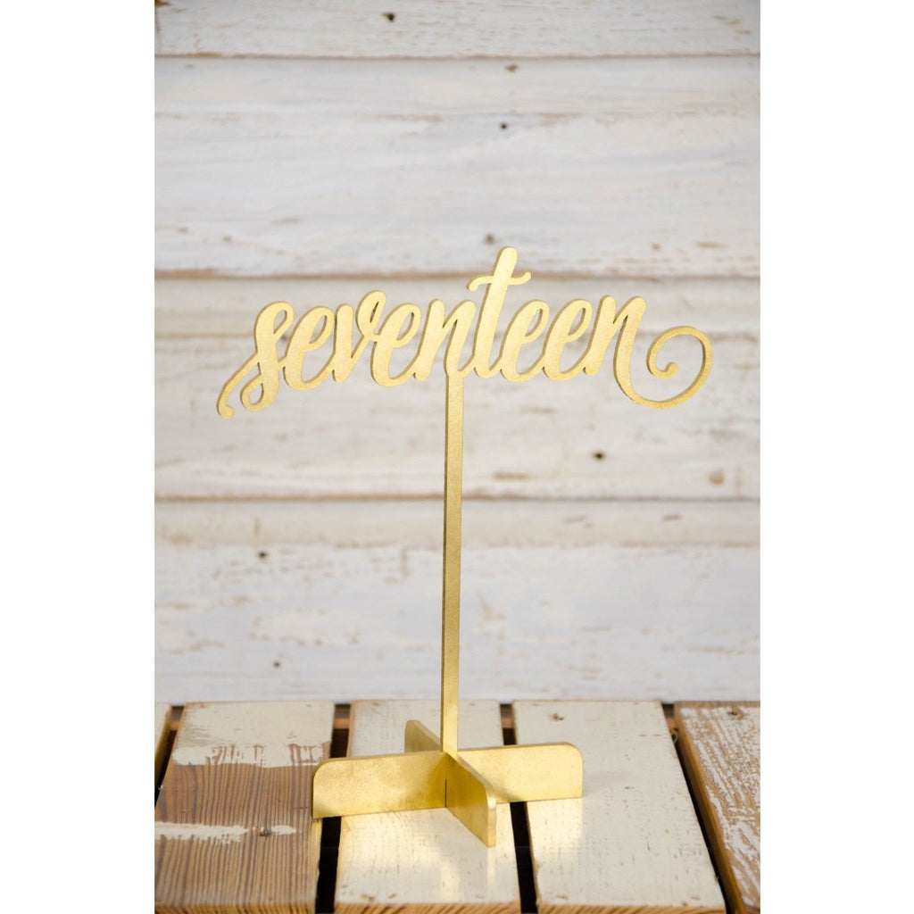 Wedding Table Numbers - Freestanding Table Numbers