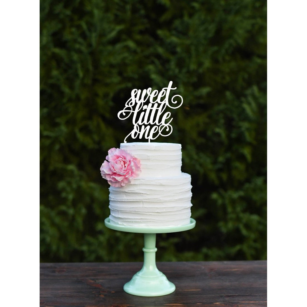 Sweet Little One Baby Shower Cake Topper Gender Reveal Cake Topper