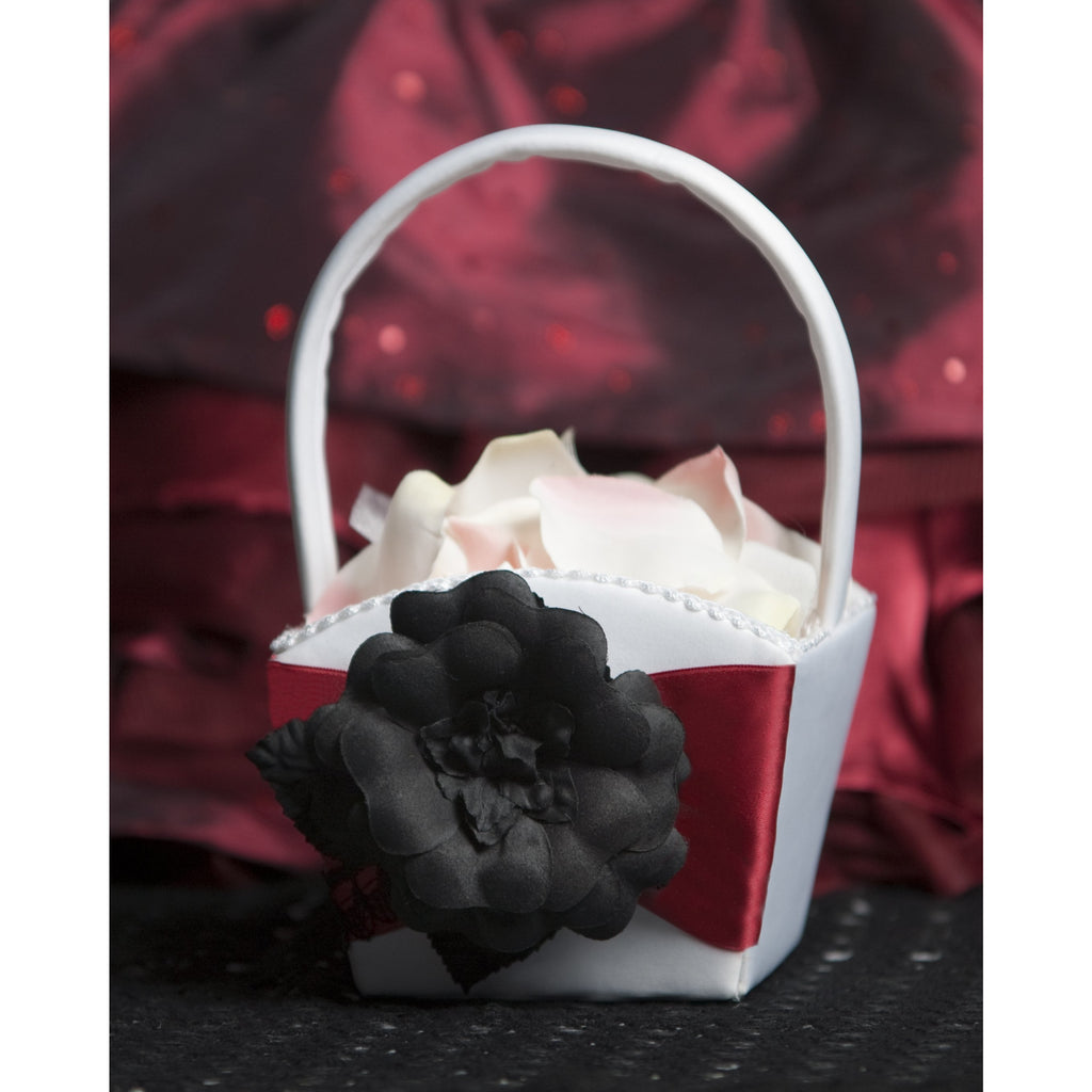 Gothic Romance Flower Girl Basket