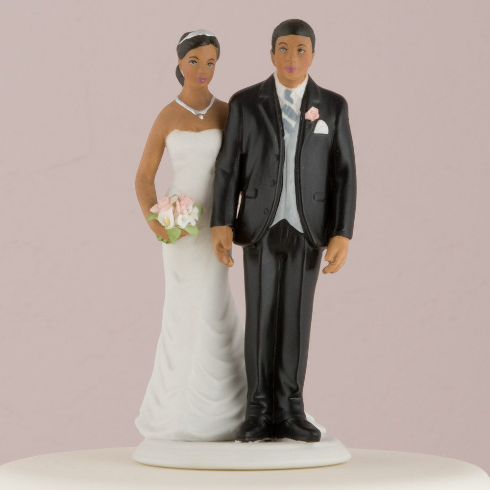 The Love Pinch Bridal African American Couple Figurine