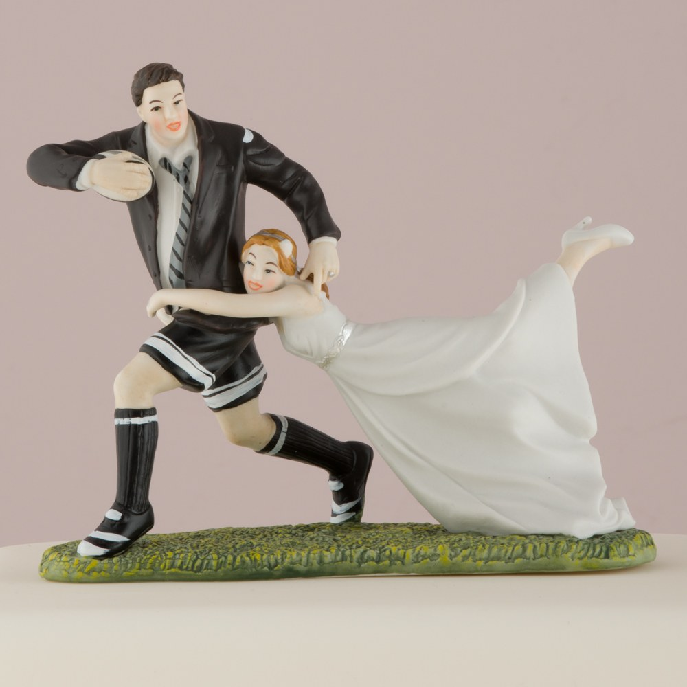 """A Love Match"" Rugby Couple Figurine"