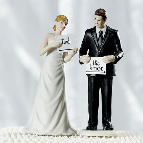 Read My Sign - Bride and Groom Figurines