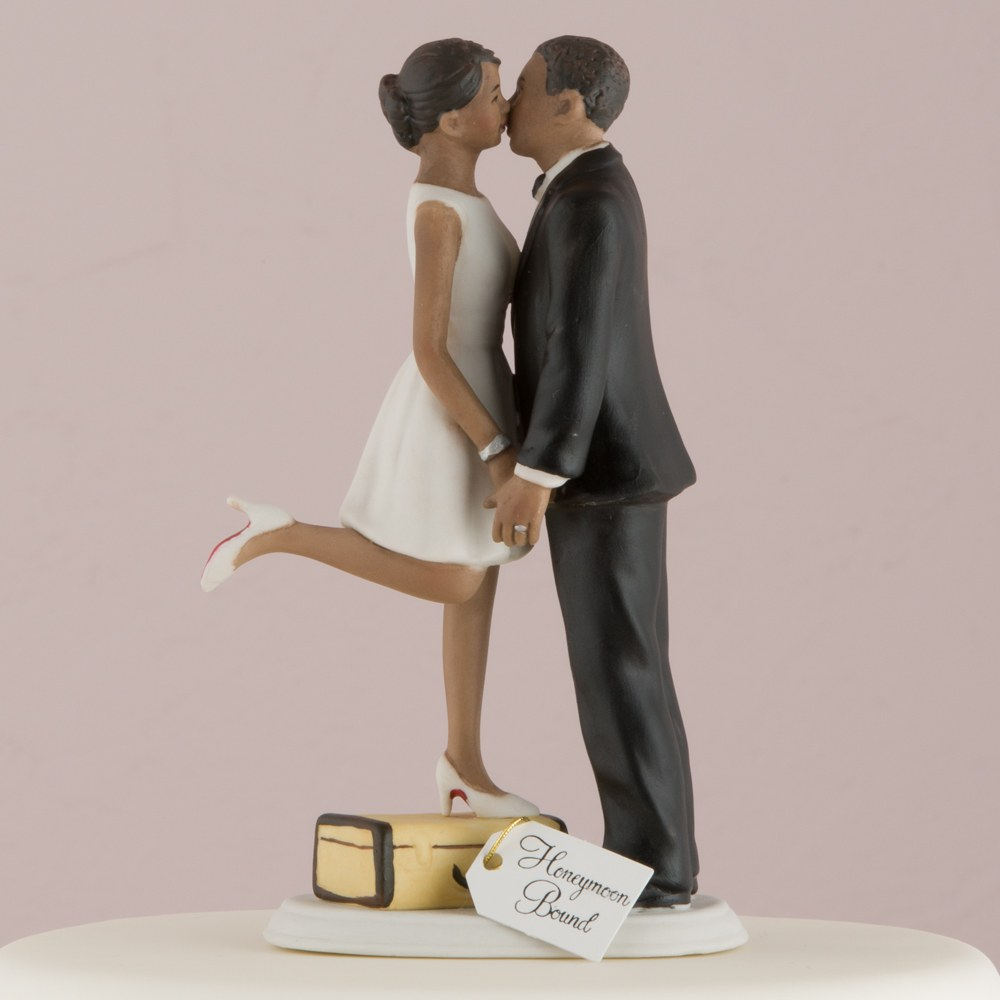 "A Kiss and We're Off!"" Figurine (Dark Skin Tone)"