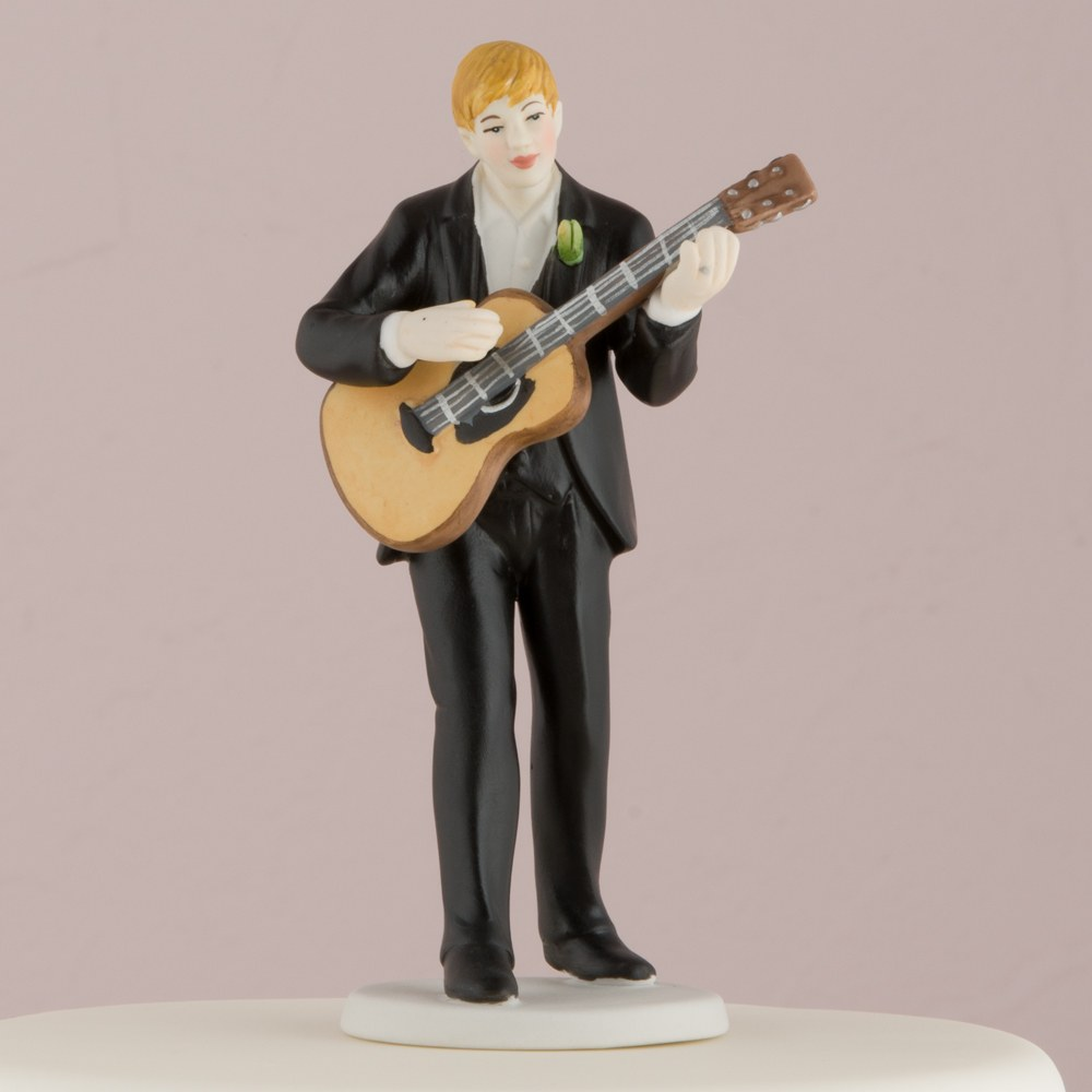 Love Serenade Guitar Playing Groom Figurine - Mix & Match