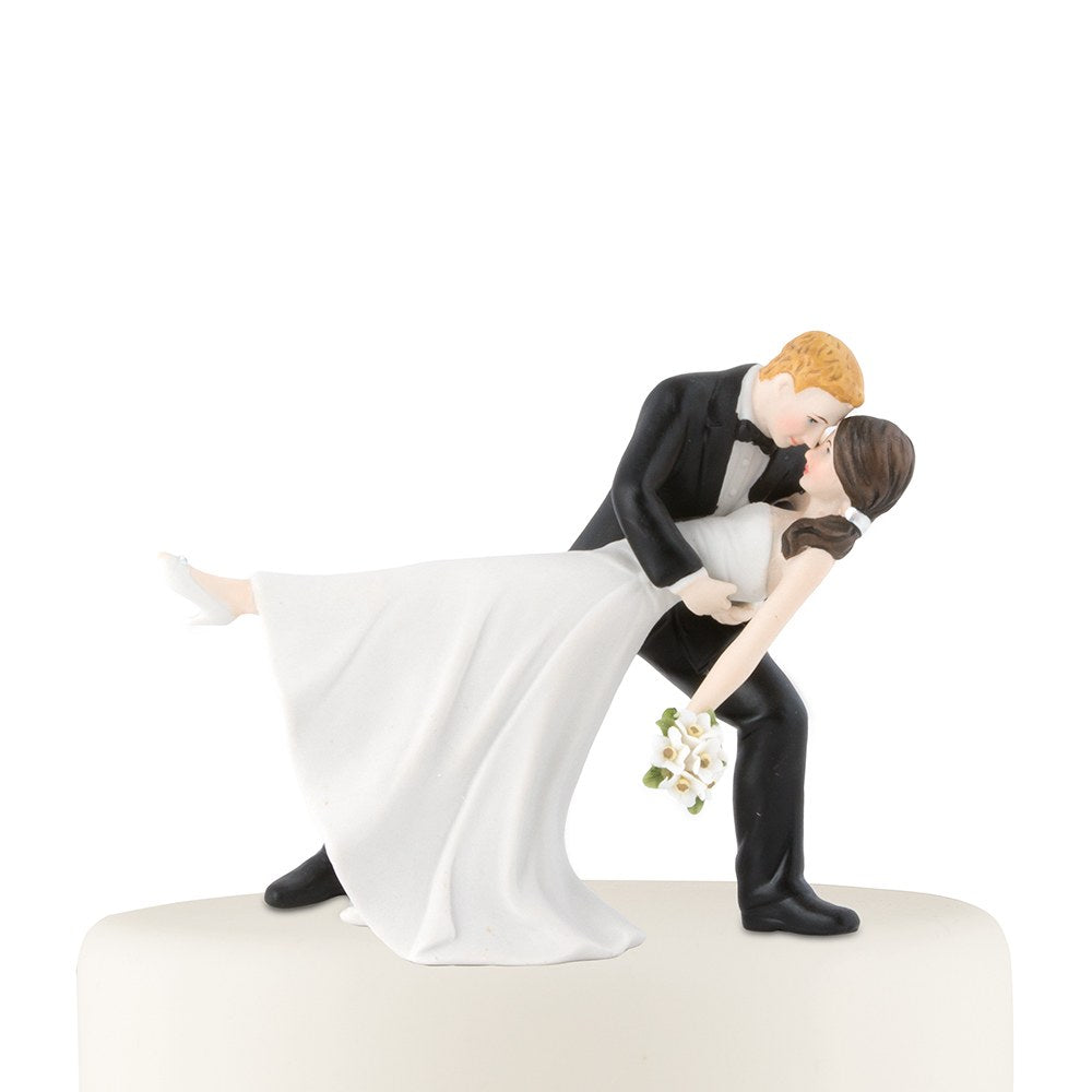 """A Romantic Dip"" Dancing Bride and Groom Couple Figurine"