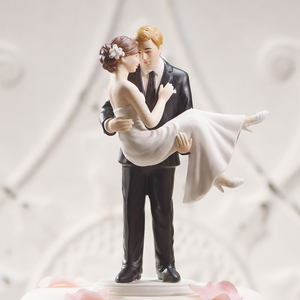 """Swept Up in His Arms"" Wedding Couple Figurine"