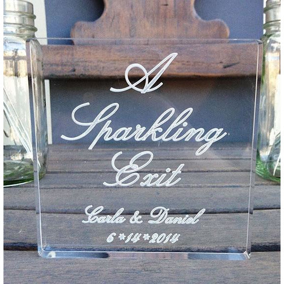 A Sparkling Exit Sparkler Sign - Personalized