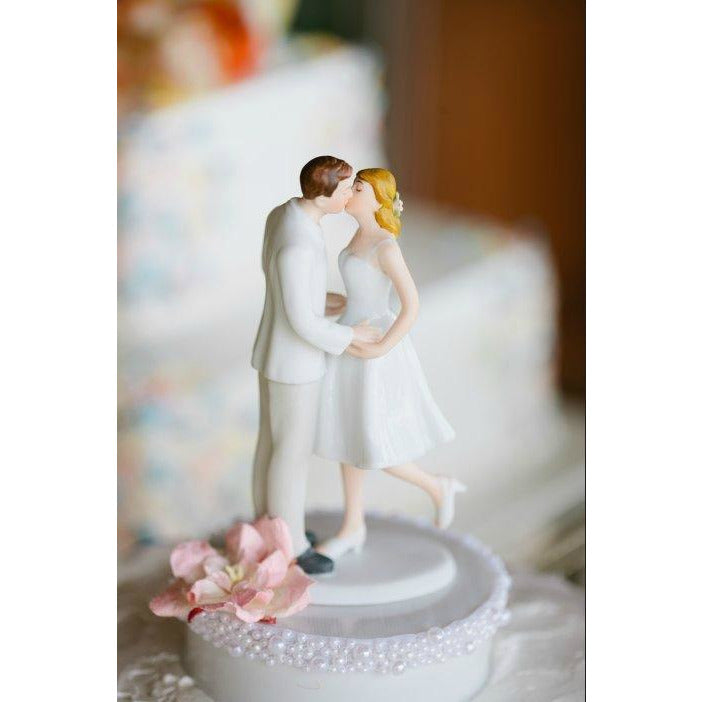 "Adorable ""Leg Pop"" Pearl Accent Cake Topper"