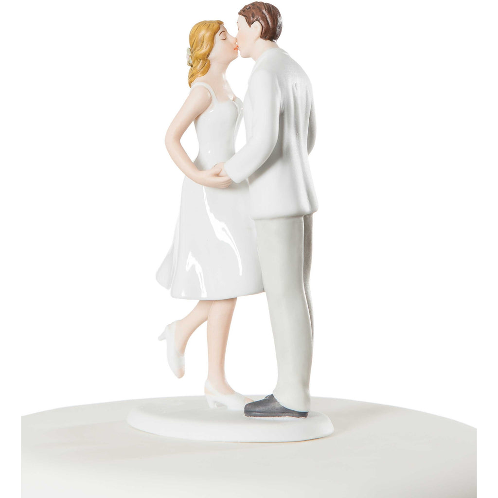 "Adorable ""Leg Pop"" Wedding Bride and Groom Cake Topper"