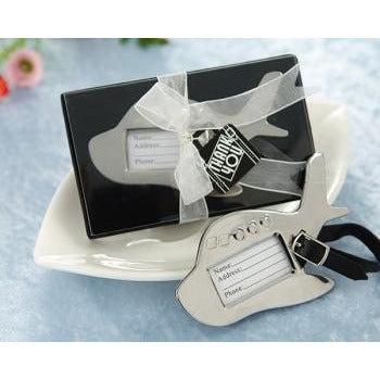 Airplane Luggage Tag in Gift Box with Suitecase Tag