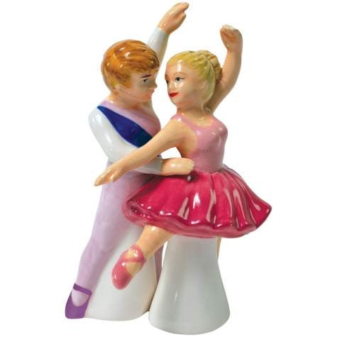 Ballet Dancer Couple Wedding Cake Topper