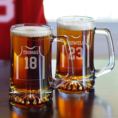 Basketball Sport's Jersey Mugs (Set of 2)