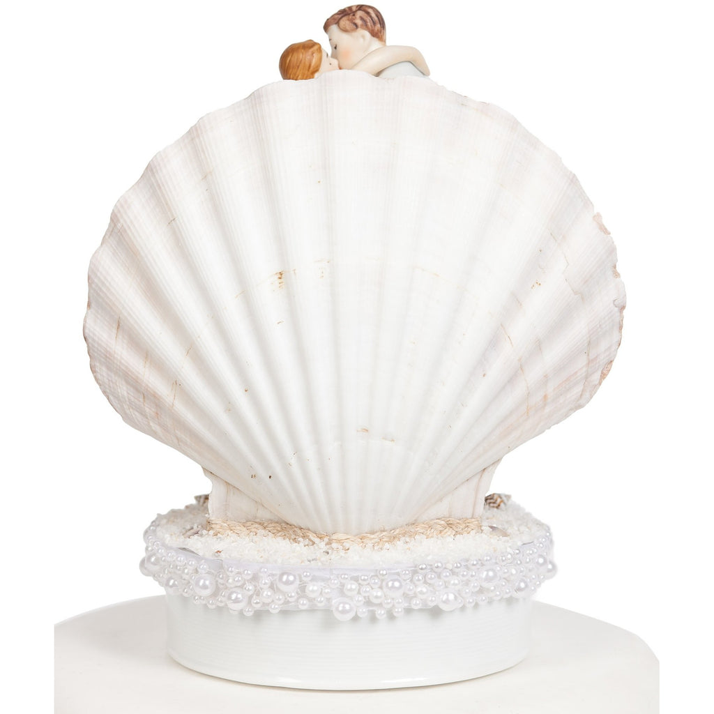 Beach Get Away Shell Wedding Cake Topper