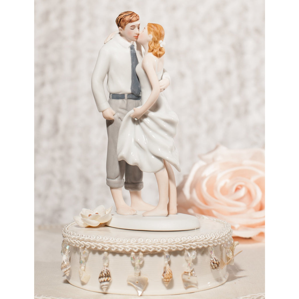 Beach Get Away Shell Accents Wedding Cake Topper