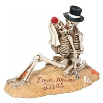 Beach Lovers Skeleton Wedding Cake Topper
