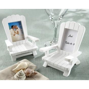 """Beach Memories""  Miniature Adirondack Chair Place Card/Photo Frame"