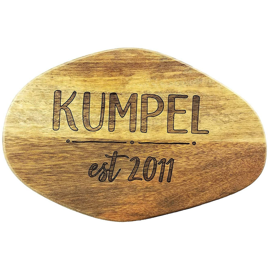 Block Last Name and Wedding Date Wooden Cutting Board (Thick) Custom Wedding Gift Engraved, Serving Tray | Meat, Vegetables, Cheese | Personalized Housewarming Gift, Shower