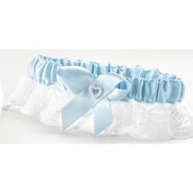 Blue Heart Garter Wide Lace, Full Figure