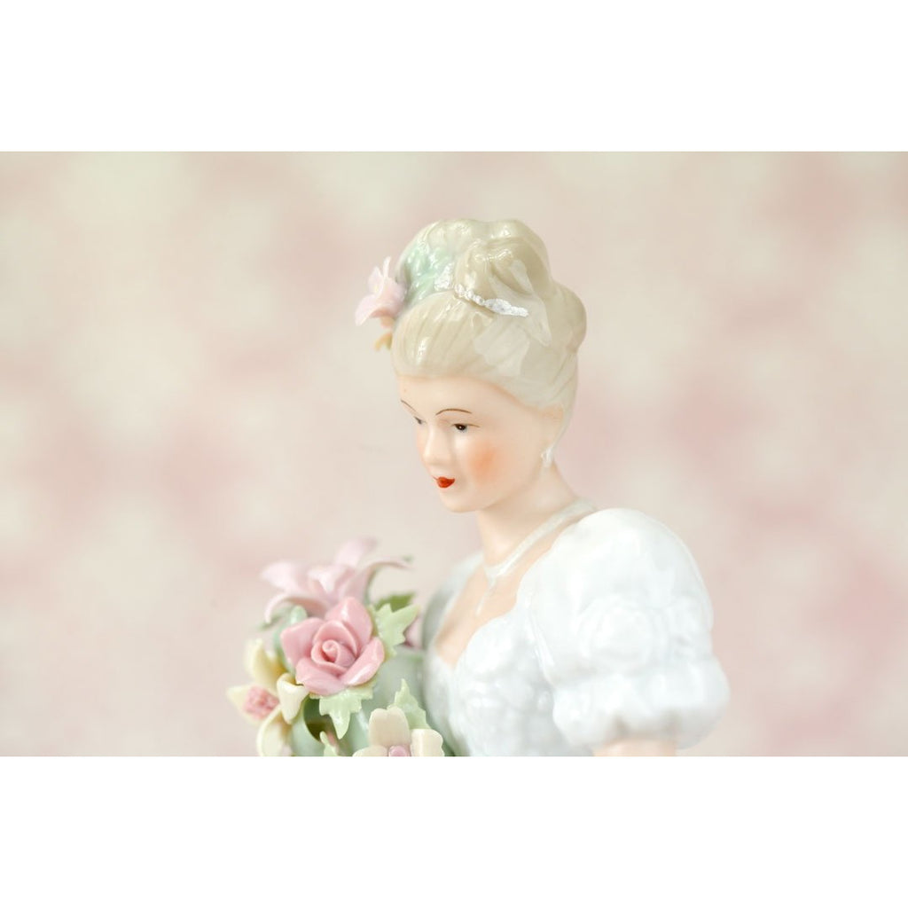 Blushing Bride Porcelain Wedding Figurine