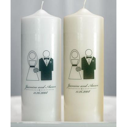 Bride and Groom Personalized Unity Candle