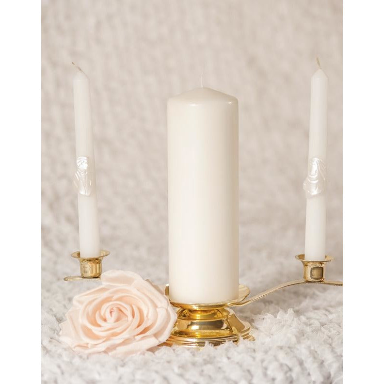 Bride and Groom Wedding Candle Tapers (Set of 2)