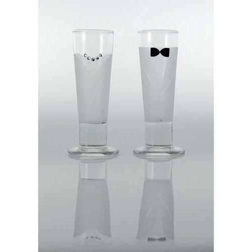 Bride and Groom Wedding Shot Glasses
