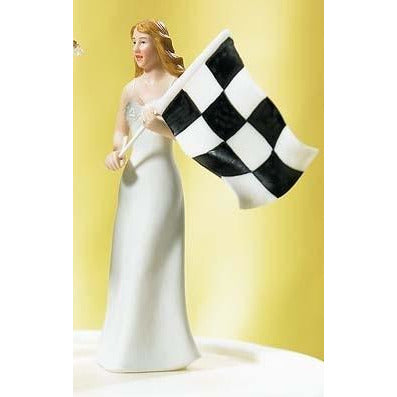 Bride at Finish Line Figurine Mix & Match Cake Toppers