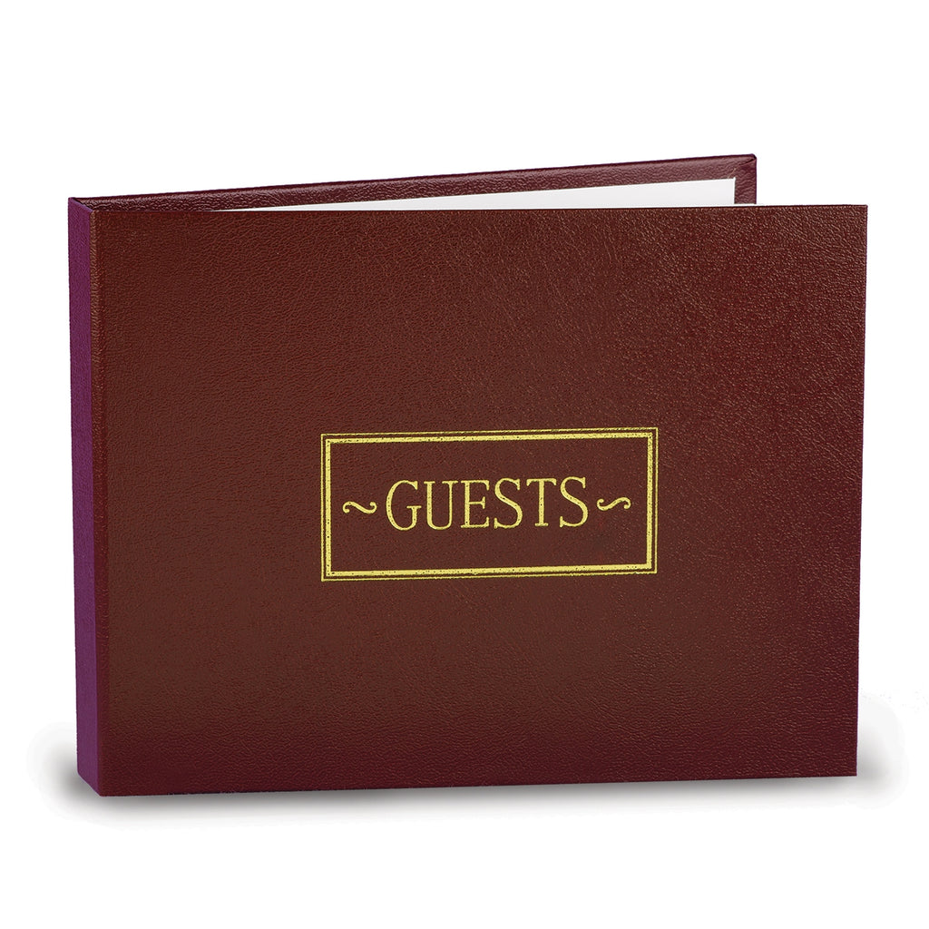 Burgundy Small Guest Book