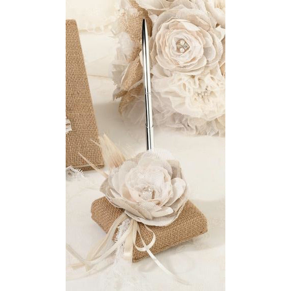 Burlap & Lace Pen Set