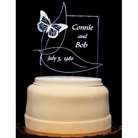 Butterfly Light-Up Wedding Cake Topper