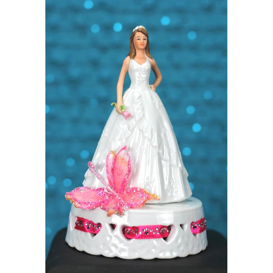 Butterfly Princess Quinceañera Cake Topper - CUSTOM COLORS!