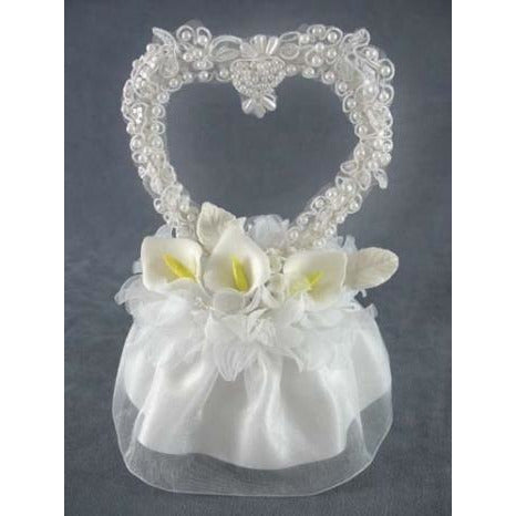 Calla Lily Applique Heart Cake Topper