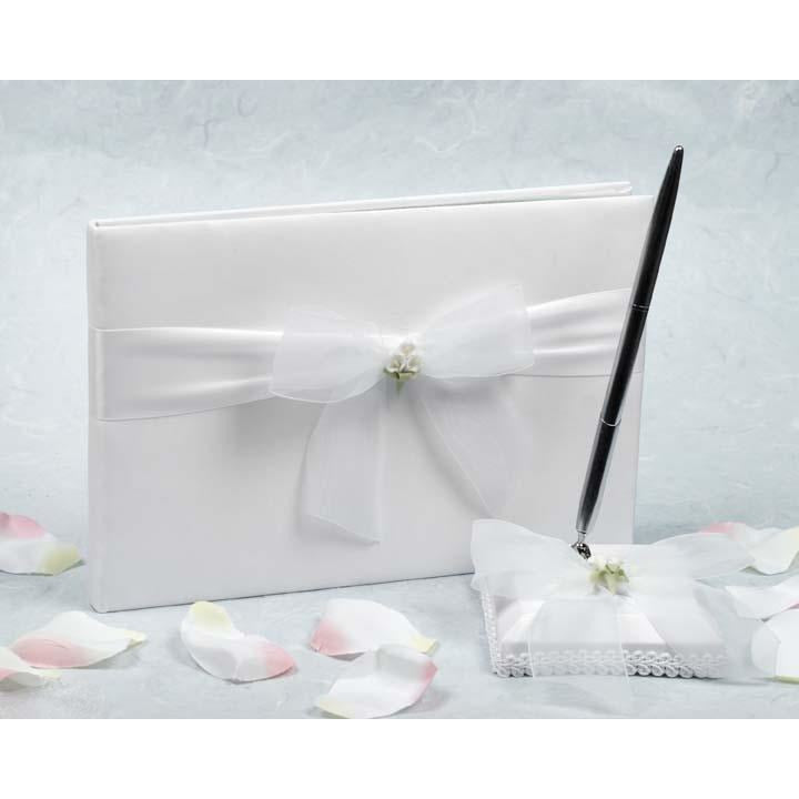 Calla Lily Bouquet Wedding Guestbook and Pen Set