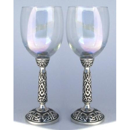 Celtic Wedding Toasting Glasses Set