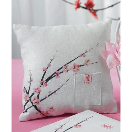 Cherry Blossom Wedding Ceremony Square Ring Bearer Pillow