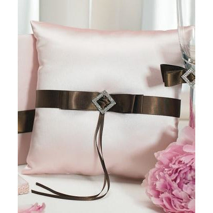 Chocolate & Strawberry Cream Square Ring Pillow